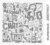 doodle communication background | Shutterstock .eps vector #200074517