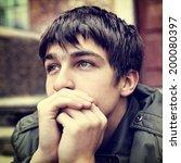 toned photo of sad teenager...   Shutterstock . vector #200080397
