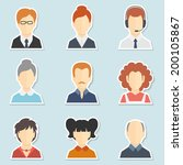 trendy face avatar icons... | Shutterstock .eps vector #200105867