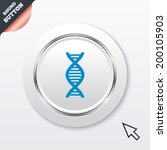 dna sign icon. deoxyribonucleic ...