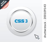 css3 sign icon. cascading style ...