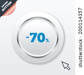 70 percent discount sign icon....