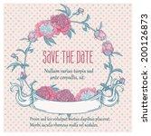 round floral retro frame   Shutterstock .eps vector #200126873