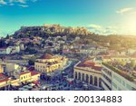acropolis in athens greece    Shutterstock . vector #200134883
