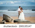 gorgeous bride in a wedding... | Shutterstock . vector #200135147