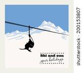 winter background. mountain... | Shutterstock .eps vector #200153807
