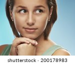 portrait of smiling beautiful... | Shutterstock . vector #200178983