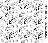 seamless vector of leaves  ... | Shutterstock .eps vector #200184983