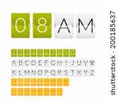 flat countdown timer  white... | Shutterstock .eps vector #200185637