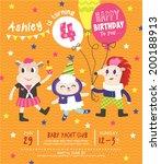 4th Birthday Party Invitation...