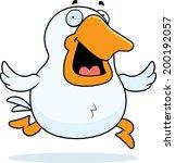 A Happy Cartoon Goose Running...