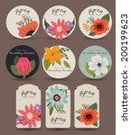 flower gift tag | Shutterstock .eps vector #200199623