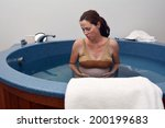 pregnant woman during natural...   Shutterstock . vector #200199683