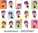 character design of the... | Shutterstock .eps vector #200239667