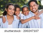 portrait of indian family... | Shutterstock . vector #200247107