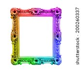 Rainbow Antique Baroque Frame ...