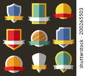 vector coats of arms  shields ... | Shutterstock .eps vector #200265503