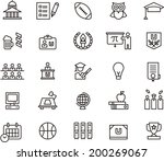 college icons | Shutterstock .eps vector #200269067