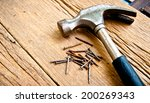 old vintage hammer with rust... | Shutterstock . vector #200269343