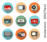 collection of retro radio and... | Shutterstock .eps vector #200275613