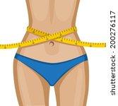 elegant women's waist with a...   Shutterstock .eps vector #200276117