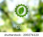 Vector Blurred Landscape  Eco...