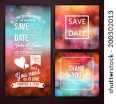 save the date for personal... | Shutterstock .eps vector #200302013