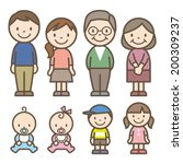 family | Shutterstock .eps vector #200309237