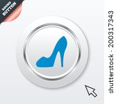 women sign. women's shoe icon....