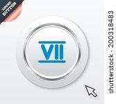 roman numeral seven sign icon....