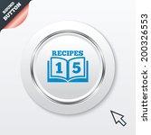 cookbook sign icon. 15 recipes...