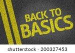 back to basics written on the... | Shutterstock . vector #200327453