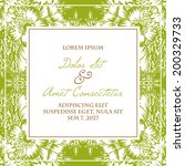 wedding invitation cards with... | Shutterstock .eps vector #200329733