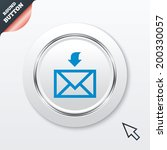mail receive icon. envelope...