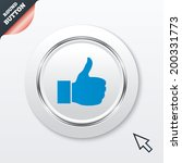 like sign icon. thumb up sign....