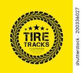 tire tracks. vector... | Shutterstock .eps vector #200336027