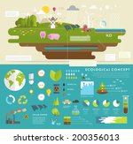 Ecology Concept Vector Icons...