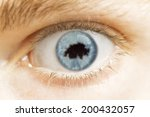 a close up of an eye with the... | Shutterstock . vector #200432057
