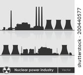 silhouettes of a nuclear power... | Shutterstock .eps vector #200440577