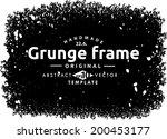 abstract grunge frame. vector...   Shutterstock .eps vector #200453177
