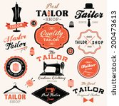 collection of vintage retro... | Shutterstock .eps vector #200473613