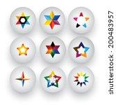 colorful star  christmas  ... | Shutterstock .eps vector #200483957