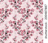 elegant seamless pattern with... | Shutterstock . vector #200487887