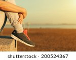 sitting woman's feet in a... | Shutterstock . vector #200524367