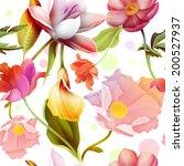 Seamless Tropical Flower  Plan...