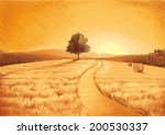 western landscape | Shutterstock .eps vector #200530337