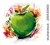 crazy apple sketch | Shutterstock .eps vector #200530403