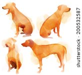 ridge back dog set | Shutterstock .eps vector #200532587