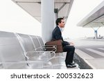 Businessman Sitting On The...