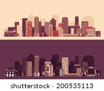 new big city  architecture... | Shutterstock .eps vector #200535113